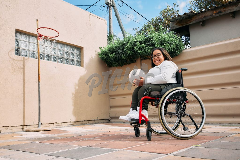 Young Woman with a disability smiling