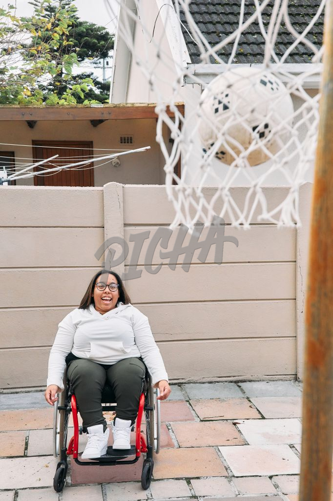 Young Woman with a disability enjoying her time in the outdoors