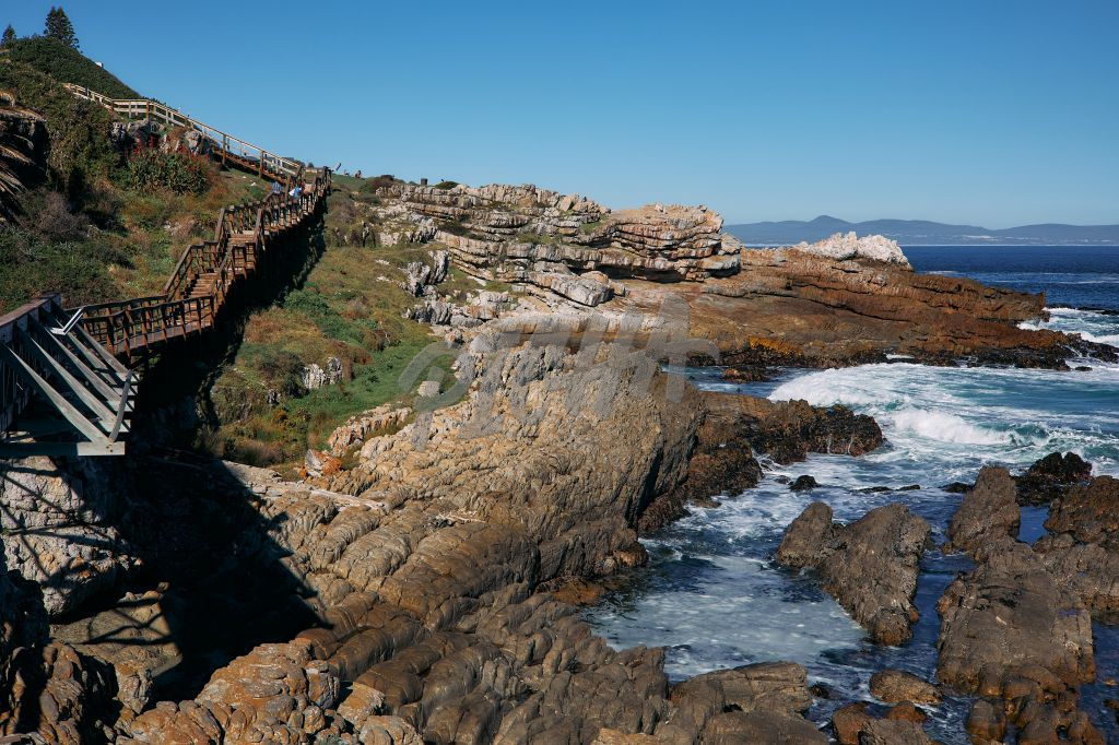 Landscape of the bustling waters on the South Coast of the Cape