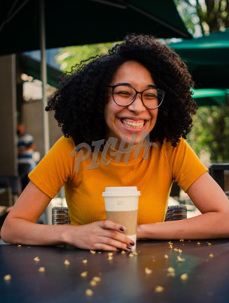 Girl at coffee shop
