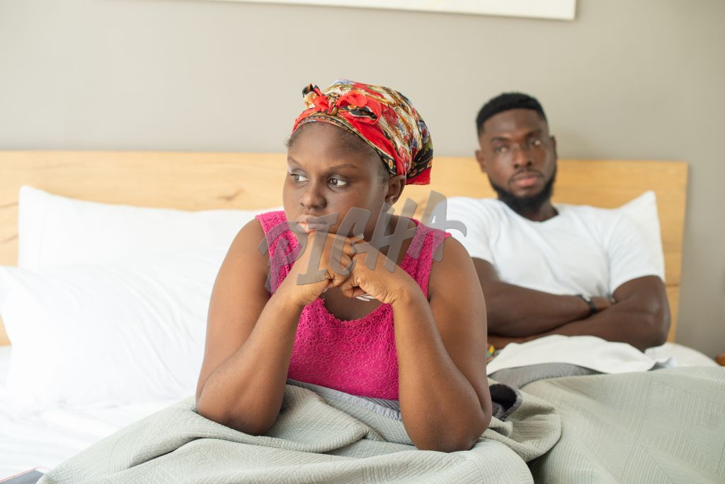Couple having problems in the bedroom