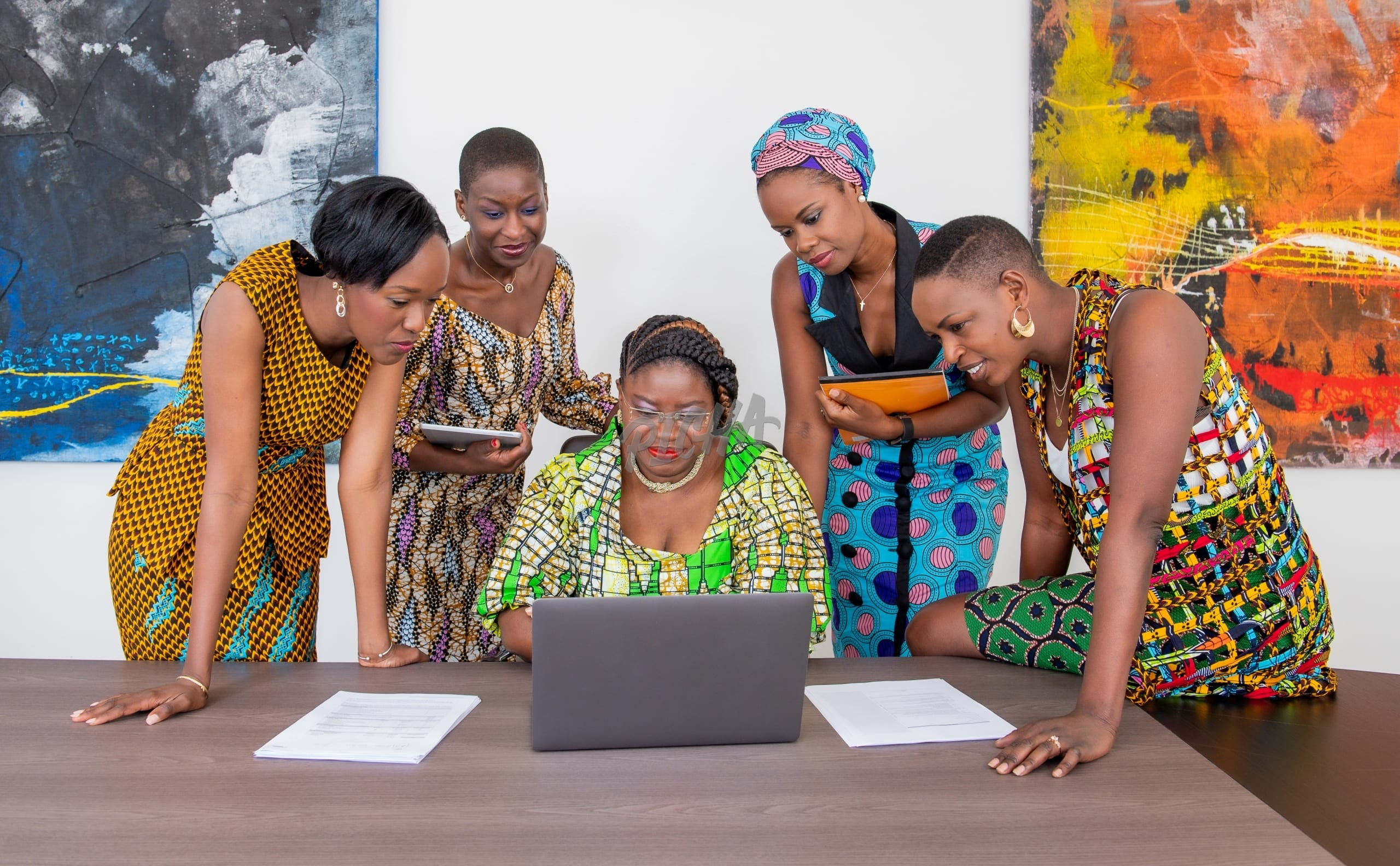 A group of woman working together