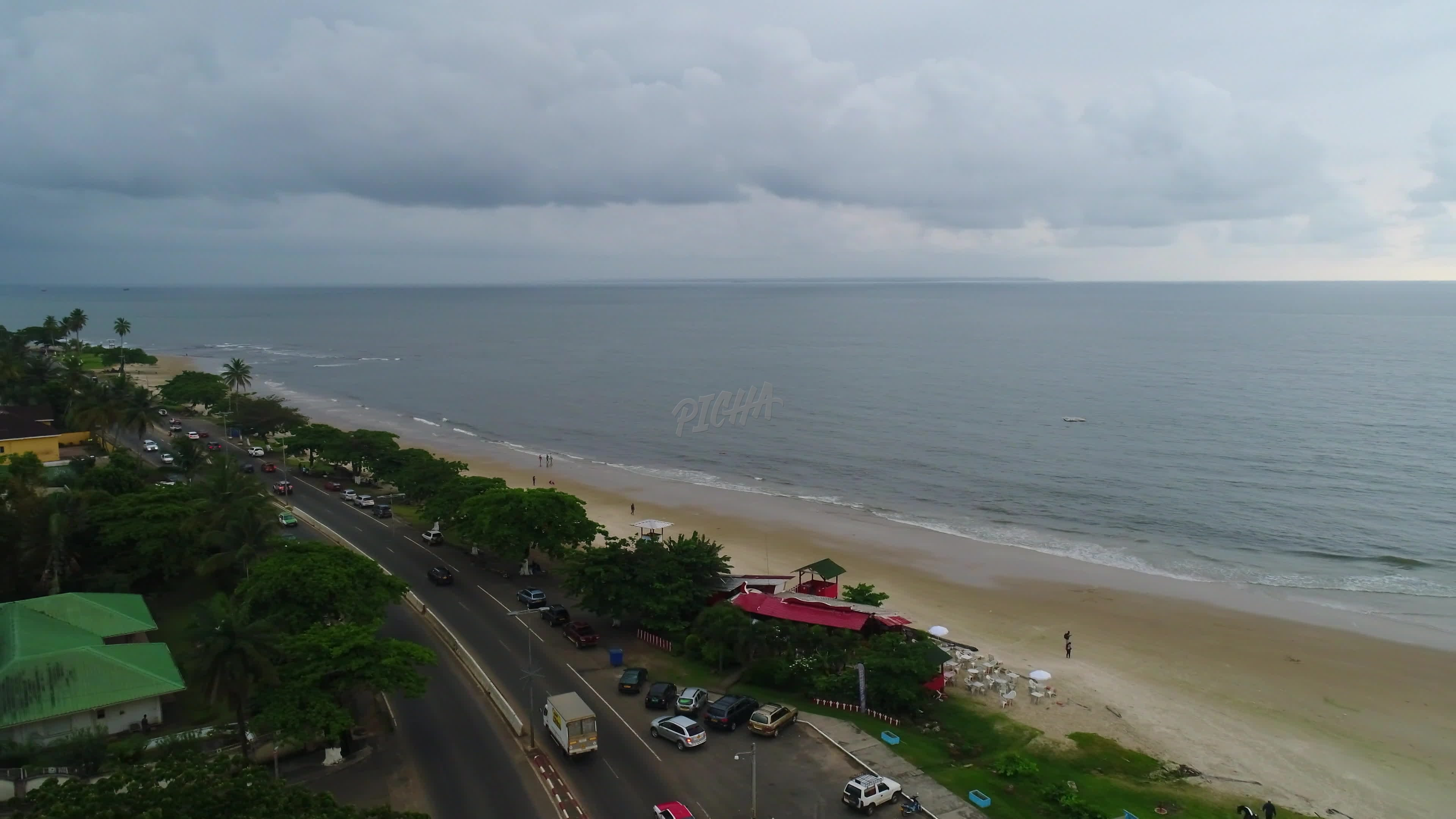 Aerial view of Libreville